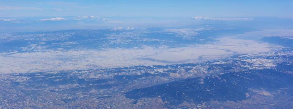 Η Θεσσαλονίκη ντυμένη στα λευκά (Αεροφωτογραφίες)