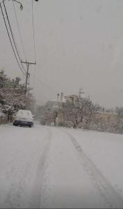 Πρωί της Παρασκευής ήδη αξιόλογη χιονόστρωση