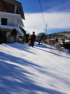Σάββατο μεσημέρι μετά την οριστική λήη των χιονοπτώσεων