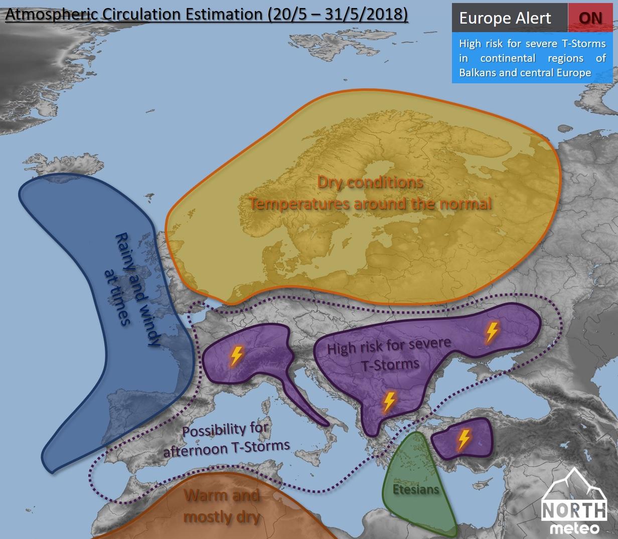 Ευρώπη καιρός Μάιος 2018