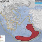 ελάχιστες θερμοκρασίες Ελλάδα χάρτης κύμα ζέστης
