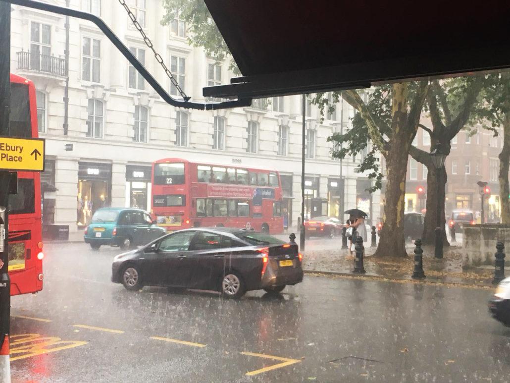 sloane square heavy thunderstorm