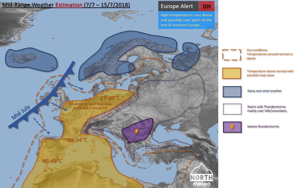 ευρώπη εκτίμηση μεσοπρόθεσμη Ιούλιος 2018 map Europe July 2018