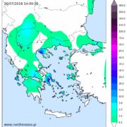 πλημμύρες αττική χαλκιδική καταιγίδες χάρτης υετού