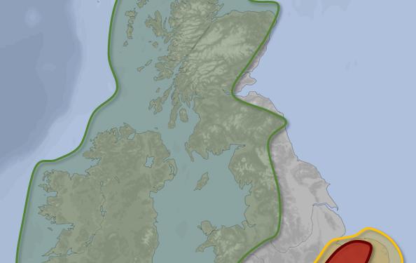 stormy weather UK forecast map Friday