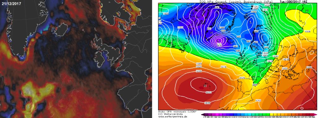 θερμοκρασία θαλασσών ατλαντικός ωκεανός κυκλοφορία