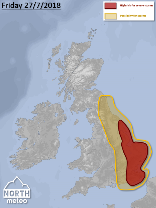 uk convective storms map july 2018